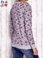 Szara bluza z kwiatowymi motywami                                  zdj.                                  2