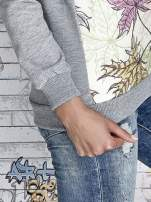 Szara bluza z nadrukiem liści i napisem AUTUMN LEAFS                                  zdj.                                  7