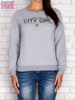 Żółta bluza z napisem CITY GIRL                                                                          zdj.                                                                         1