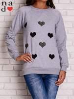 Szara bluza z serduszkami