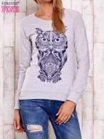 Szara bluza z sową