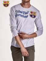 Szara bluzka męska FC BARCELONA                                                                          zdj.                                                                         3