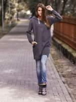 Szara długa bluza oversize                                                                          zdj.                                                                         7