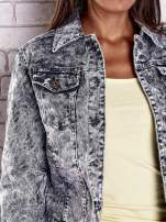 Szara jeansowa kurtka w tłoczone wzory                                  zdj.                                  6