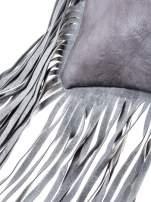 Szara kopertówka z frędzlami w stylu boho                                                                          zdj.                                                                         2