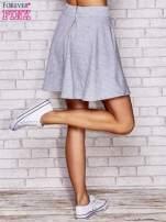 Szara spódnica dresowa skater