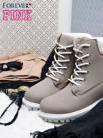 Szare buty trekkingowe damskie traperki ocieplane                                  zdj.                                  2