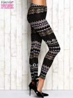 Szare legginsy w zimowy motyw                                                                          zdj.                                                                         2