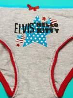 Szary komplet do spania dla dziewczynki z nadrukiem ELVIS HELLO KITTY                                  zdj.                                  10