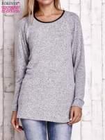 Szary melanżowy sweter                                                                           zdj.                                                                         1
