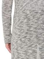Szary melanżowy sweter typu długi kardigan                                  zdj.                                  9