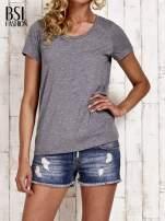 Szary melanżowy t-shirt basic                                  zdj.                                  1