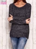 Szary sweter fluffy z cekinami                                  zdj.                                  1