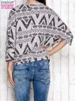 Szary sweter w azteckie wzory                                                                          zdj.                                                                         4