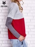Szary sweter z trójkątnym dekoltem                                  zdj.                                  3