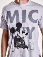 Szary t-shirt męski MICKEY MOUSE                                                                           zdj.                                                                         6