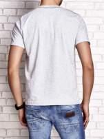 Szary t-shirt męski z napisem BROOKLYN NYC                                  zdj.                                  2