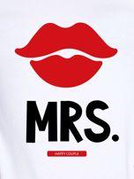 T-shirt biały dla par MRS.                                  zdj.                                  2
