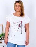 T-shirt biały z nadrukiem boho PLUS SIZE                                  zdj.                                  1