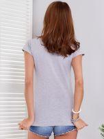T-shirt jasnoszary SHOPPING IS MY CARDIO                                  zdj.                                  2