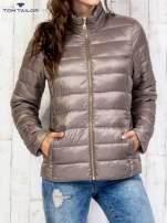 TOM TAILOR Brązowy dwuczęściowy płaszcz z kurtką pikowaną                                                                          zdj.                                                                         8