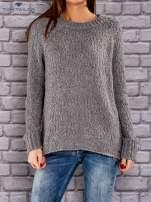 TOM TAILOR Ciemnoszary włóczkowy sweter                                  zdj.                                  1