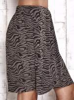 TOM TAILOR Czarna spódnica abstract print