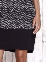 TOM TAILOR Czarna sukienka z graficznym nadrukiem                                  zdj.                                  7