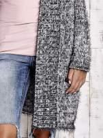 TOM TAILOR Czarny włochaty sweter z kieszeniami                                  zdj.                                  7