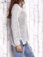 TOM TAILOR Różowy ażurowy sweter                                                                          zdj.                                                                         4