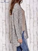 TOM TAILOR Ecru fakturowany sweter kardigan                                   zdj.                                  3