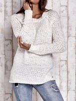 TOM TAILOR Ecru włóczkowy sweter