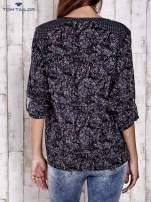TOM TAILOR Granatowa koszula z podwijanymi rękawami wzór paisley