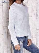 TOM TAILOR Niebieski sweter z dodatkiem wełny z alpaki                                  zdj.                                  3