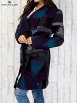 TOM TAILOR Płaszcz z szerokim kołnierzem w azteckie wzory                                  zdj.                                  4
