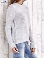 TOM TAILOR Szary sweter z dodatkiem wełny z alpaki                                  zdj.                                  3