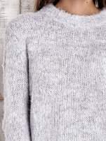 TOM TAILOR Szary sweter z dodatkiem wełny z alpaki                                  zdj.                                  6