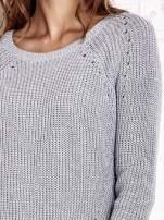 TOM TAILOR Szary sweter z koszulą                                  zdj.                                  7