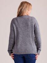 TOM TAILOR Czerwony wełniany sweter o grubszym splocie                                                                          zdj.                                                                         3