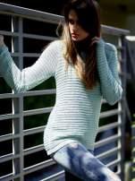 TOM TAILOR Zielony włóczkowy sweter                                                                          zdj.                                                                         1