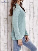 TOM TAILOR Zielony włóczkowy sweter                                  zdj.                                  4