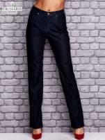 TRUSSARDI Granatowe spodnie jeansowe o prostym kroju                                  zdj.                                  1