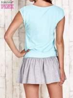 Turkusowa dresowa sukienka tenisowa z sercem