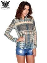 Turkusowa koszula we wzory w stylu etno                                  zdj.                                  1