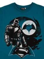Turkusowy t-shirt męski z motywem BATMAN V SUPERMAN                                  zdj.                                  3