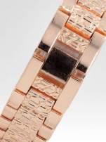 Zegarek damski na bransolecie z cyrkoniową kopertą z różowego złota                                  zdj.                                  4