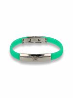 Zielona Bransoletka silikonowa