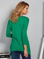 Zielona asymetryczna bluzka z babeczką                                  zdj.                                  2
