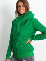 Zielona bluza z asymetrycznym zapięciem                                  zdj.                                  3