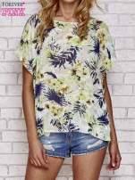 Zielona bluzka koszulowa z motywem exotic print                                  zdj.                                  1